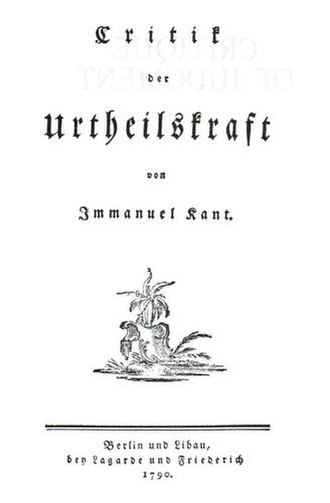 Critique of Judgment - Title page of the 1790 original work