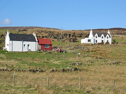 Crofts at Borreraig on the island of Skye