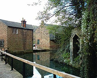 Cromford Wharf - Rear of the buildings at Cromford Wharf.