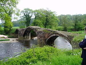 River Hodder - Cromwell's Bridge, near Hurst Green