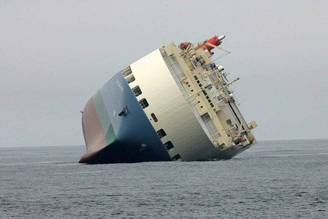 Big ship stranded