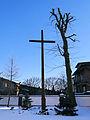 Cross of Missions in the courtyard of Saint Margaret church in Kiernozia - 02.jpg