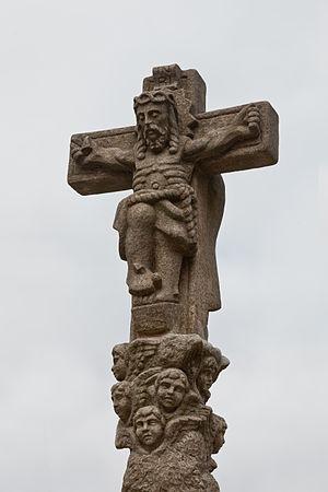 Wayside cross in Padrón, Galicia (Spain)