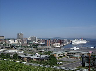 Uptown Saint John is a commercial hub and seaport for the province. Cruise 003.JPG