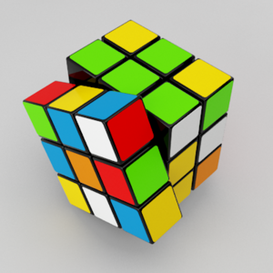 English: Rubik's cube rendered in 3Ds Max Espa...