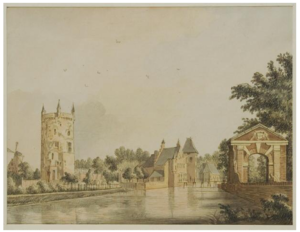 Jacobus Ludovicus Cornet - The castle of Culemborg in 1750. This 1872 work by Cornet was based on an original by Jan de Beijer