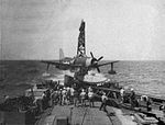 Curtiss SC-1 Seahawk aboard USS Wichita (CA-45), circa in April 1945.jpg
