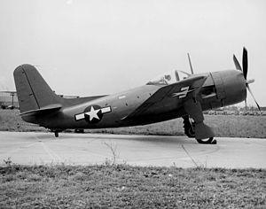 Curtiss XBT2C - XBT2C-1 side view.