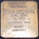 Cuxhaven Stolperstein Gerda Rosenthal.jpg