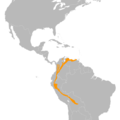 Cyanocorax yncas map.png