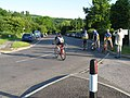Cyclists preparing for an evening timetrial - geograph.org.uk - 1428796.jpg