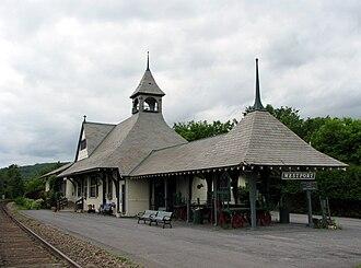 Westport, New York - Westport train station, home to the Depot Theatre