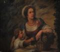 D. Maria da Nazaré Monteiro Almeida, Marquesa de Pombal, e o filho D. Manuel Sebastião (Sala de Jantar, Palácio Quintela).png