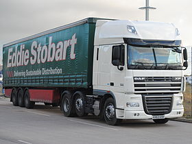 DAF XF 105.460 (KX63 KXH) with Stobart trailer, 4 December 2013.jpg