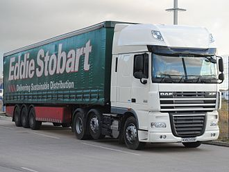 DAF XF - Image: DAF XF 105.460 (KX63 KXH) with Stobart trailer, 4 December 2013