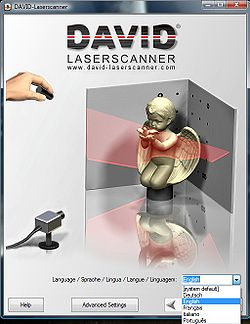 Screenshot von DAVID-LASERSCANNER