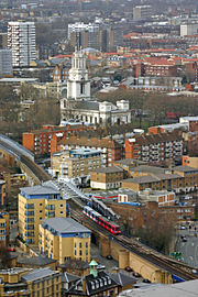 DLR Westferry aerial view