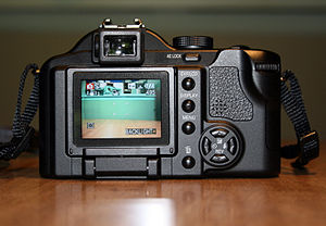 Panasonic Lumix DMC-FZ30 - Image: DMC FZ30 rear 2