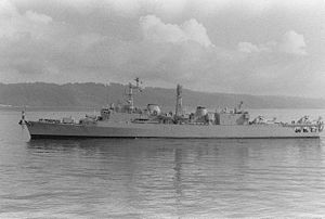 The Chilean destroyer Cochrane
