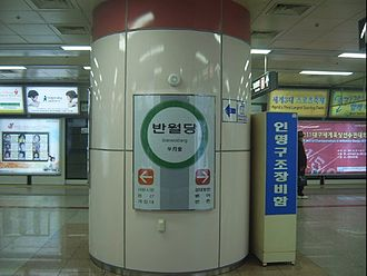 Banwoldang station - Railway platform on Line 2