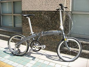 Step-through frame - A Dahon folding bicycle with a cross frame