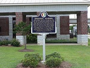 Dale County, Alabama - Image: Daleville historical marker
