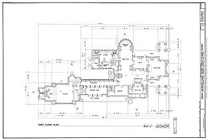 Dana–Thomas House - First floor plan for the Dana–Thomas House