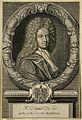 Daniel Defoe. Line engraving by M. van der Gucht, 1706, afte Wellcome V0001507.jpg