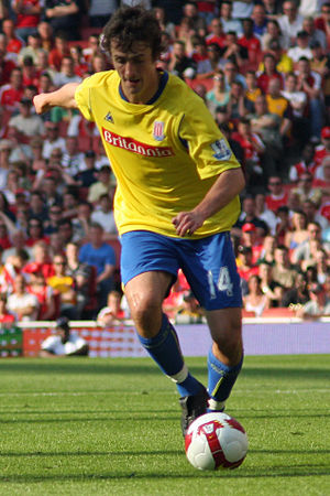 Danny Pugh - Pugh playing for Stoke City in May 2009