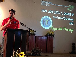 Dingdong Dantes - Dantes at the National Youth Commission event in Dingalan, Aurora, September 15, 2014.