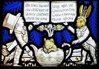 All Saints' Church, Daresbury - Image: Daresbury window 3