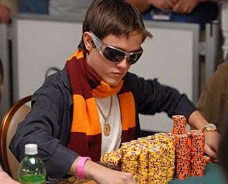 Dario Minieri - Minieri as chip leader at the  2007 World Series of Poker.