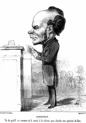 Victor Lanjuinais - Lanjuinais addressing the Assembly in 1849, by Honoré Daumier