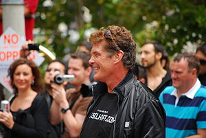 Hasselhoff at the Gumball rally