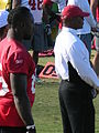 Davis & Singletary at 49ers training camp 2010-08-11.JPG