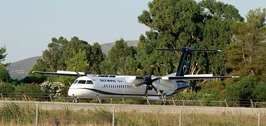 De Havilland Canada DHC-8-400 (Olympic Air) (5646788605).jpg