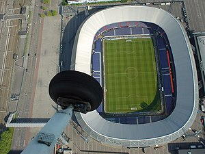 Glass Spider Tour - A modern aerial view of De Kuip, where Bowie opened the tour