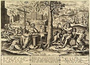 Spanish Fury - The Spanish Fury – The destruction of Antwerp 1576 (Hans Collaer, 1577) Museum Boijmans Van Beuningen, Rotterdam