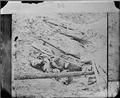 Dead soldier in trench, Petersburg - NARA - 524484.tif
