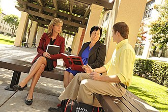 Santa Clara University School of Law - Dean Lisa Kloppenberg with law students