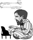 2016 caricature of Claude Debussy