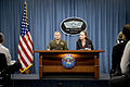 Defense.gov News Photo 101216-D-7203C-001 - Vice Chairman of the Joint Chiefs of Staff Gen. James Cartwright and Under Secretary of Defense for Policy Michele Flournoy conduct a press.jpg