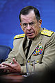 Defense.gov News Photo 110616-D-XH843-010 - Chairman of the Joint Chiefs of Staff Adm. Mike Mullen speaks during a press conference with Secretary of Defense Robert M. Gates in the Pentagon.jpg