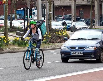 Deliveroo - Deliveroo cyclist in UK