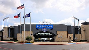 Round Rock, Texas - Dell Diamond baseball stadium in Round Rock