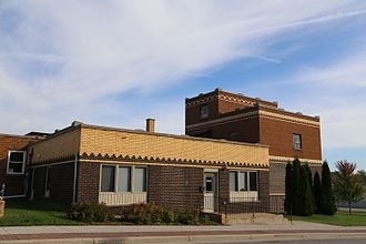 Denmark, Wisconsin - Former Denmark Brewing Company building in Denmark, Wisconsin. It currently houses the offices of the Denmark News.