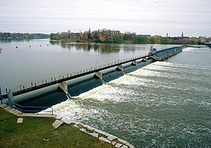 De Pere, Wisconsin - De Pere Dam on the Fox River at De Pere