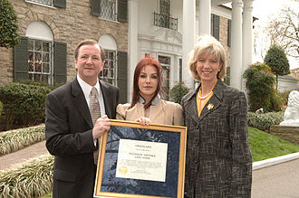 Priscilla Presley - Designation of Graceland mansion as a National Historic Landmark in 2006
