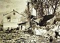 Destruction near the train station at Lupkow, Poland, 1916 (33495343775).jpg