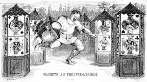 Jean-Vital Jammes - Caricature of Ismaël as Macbeth (1865)